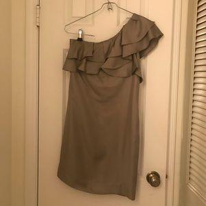 Silk asymmetrical cocktail dress